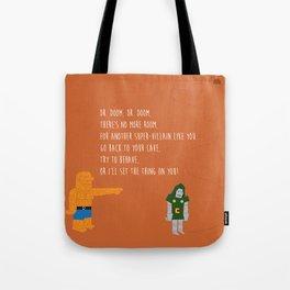 Pop Culture Nursery Rhymes: Dr. Doom Tote Bag