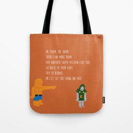 Pop Culture Nursery Rhymes: Dr. Doom Tote Bag
