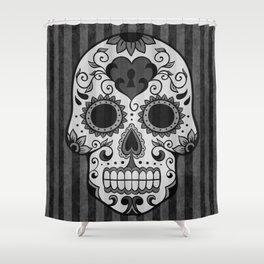 Día de los Muertos - Grey Shower Curtain