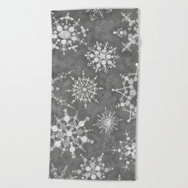 Winter Snowflakes Beach Towel