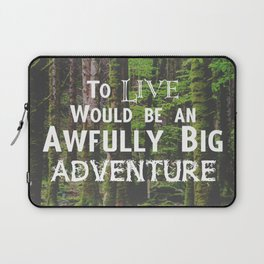 Peter Pan and Forrest Lands Laptop Sleeve