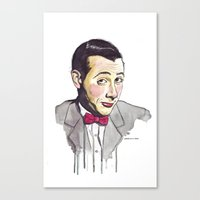 pee wee Canvas Prints featuring Pee Wee by Jesse Robinson Williams