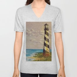 Cape Hatteras Lighthouse Unisex V-Neck