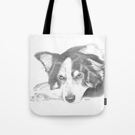 Boarder Collie Sketch Tote Bag