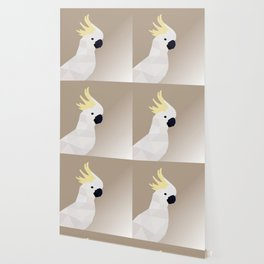 COCKATOO BIRD LOW POLY ART Wallpaper