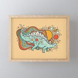 Star Stego | Retro Reptile Palette Framed Mini Art Print
