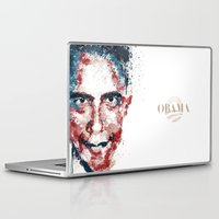 obama Laptop & iPad Skins featuring Obama by I AM DIMITRI