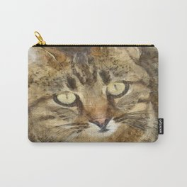 Cute Tabby Looking Up Carry-All Pouch