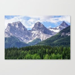 Three Sisters Mountain in Canmore, Alberta Canada Canvas Print