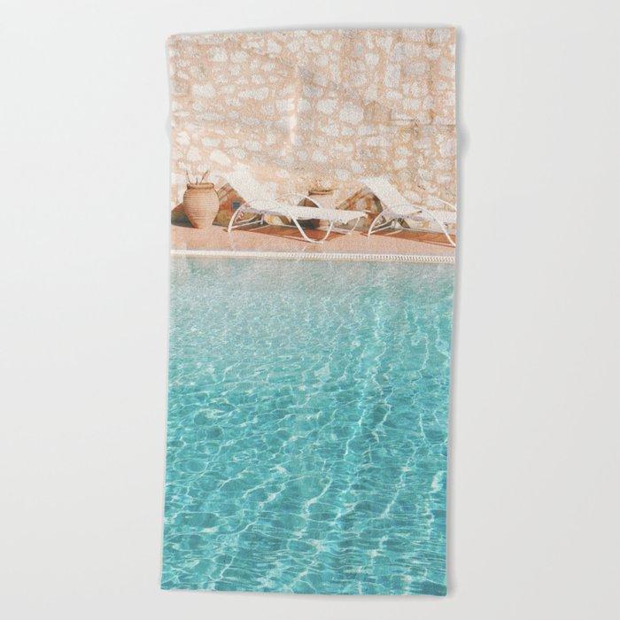 Swimming Pool V Beach Towel