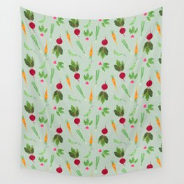 Eat more veggies! Light version Wall Tapestry
