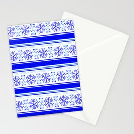 SNOWFLAKES PATTERN Stationery Cards