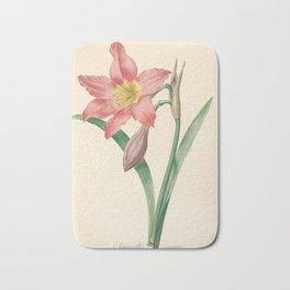 Lilies Flower Color Pencil Hand Drawing Bath Mat