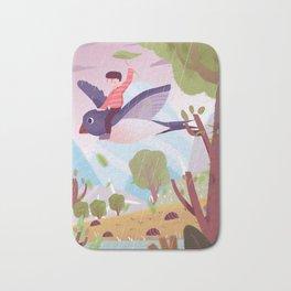 Fly Bird And Children Bath Mat