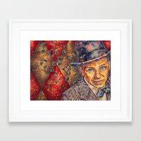frank sinatra Framed Art Prints featuring Frank Sinatra  by Sara Elyse Lehtman