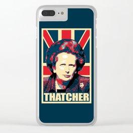 Margaret Thatcher Propaganda Clear iPhone Case
