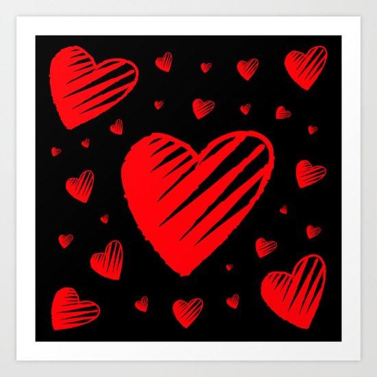 Love is Sketchy Art Print