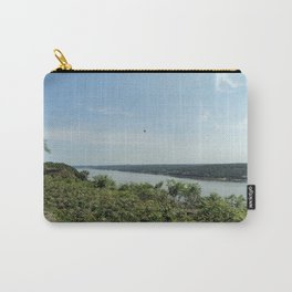Bird soaring over the Palisades and Hudson from the New York Side Carry-All Pouch