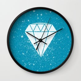 Space Diamond (blue) Wall Clock
