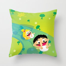 Music for Babies Throw Pillow