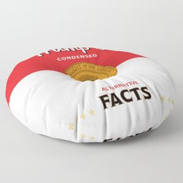Trump's Alternative Facts Soup Floor Pillow