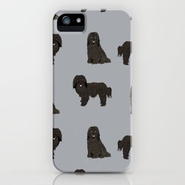Havanese black coat dog breed gifts pure breed must haves iPhone Case