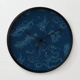 Seaweed Graphics Octopus Wall Clock