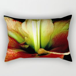 Red Green Yellow Blossom with Calyx Rectangular Pillow