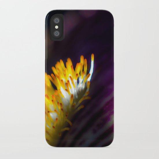 Iris in purple iPhone Case