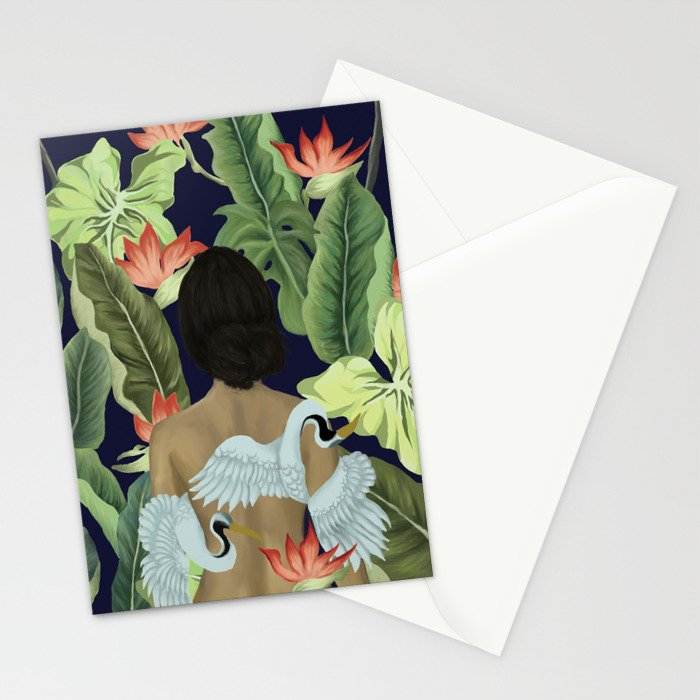 Cranes of Paradise Stationery Cards