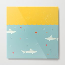 School of Sharks Metal Print