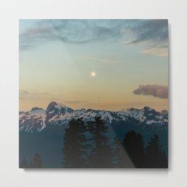 Moon Mountain Metal Print