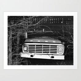 Grandpa's Ford Art Print
