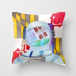 Space Patch Throw Pillow