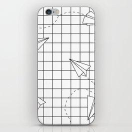 Paper Planes Grid iPhone Skin
