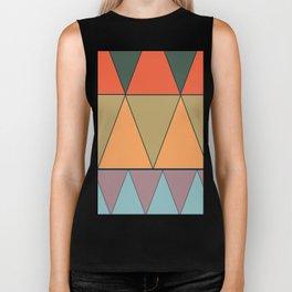 colorful triangles Biker Tank