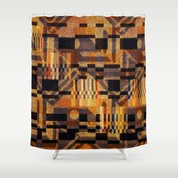 art deco Shower Curtains featuring art deco by clemm