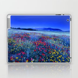 Spring poppies at blue hour Laptop & iPad Skin