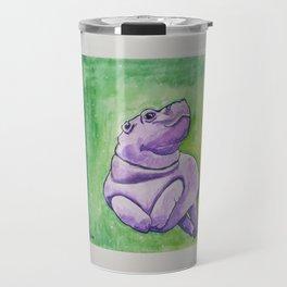 Baby Hippo Watercolor Travel Mug