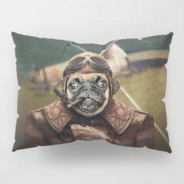 Pete the Pilot Pug Pillow Sham