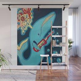 Keytar Whale Wall Mural