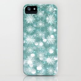 Holiday Teal and Flurries iPhone Case