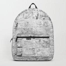 white paint worn brick urban texture Backpack
