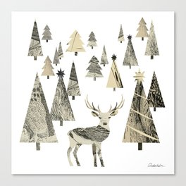 Winter Woods, collage Canvas Print