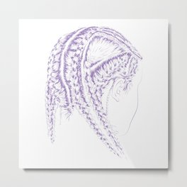 Braids Metal Print