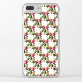 Flower garland on a white background Clear iPhone Case
