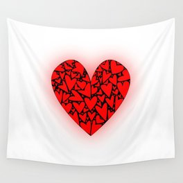 Love Hearts Wall Tapestry