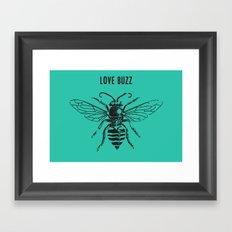 Love Buzz Framed Art Print