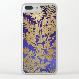 Golde Lace in the Night Sky Clear iPhone Case