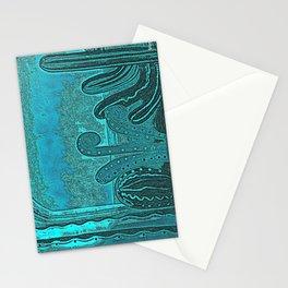 Desert landscape, night vision Stationery Cards